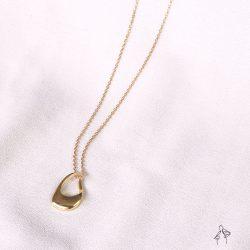 藝術范 Artist-不規則輪廓亮面 925銀鍍真金抗敏 短項鍊