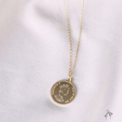 夢想 Have a Dream-雙面金幣 925銀鍍真金抗敏 胸口鍊
