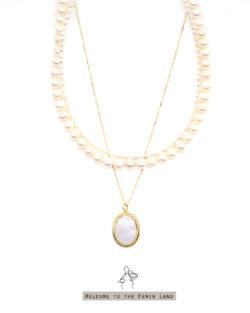 省2400| 奢華Luxury-3條可拆戴 經典珍珠項鍊套組