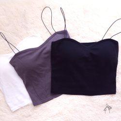 Bra Top| 法式禮服領 豐滿胸型-黑白灰三色 F尺吋