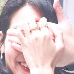 承諾Promise- 鑲嵌7鑽縷空 925純銀鍍真金抗敏戒指 美圍6、7、8號可選