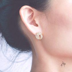絕代風華Vintage Chic- 復古滿鑽耳環  925抗敏銀針免費改夾