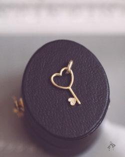 心裡的房間the space- 小愛心單鑽鑰匙  極細短項鍊
