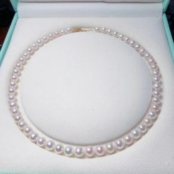 【高端客訂】全美珍珠項鍊+耳環套組