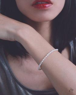 成年禮Congratulations- 迷你米形珍珠 按壓扣整圈手鍊