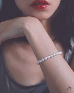 下個階段Mile Stone- 米形珍珠 按壓扣整圈手鍊