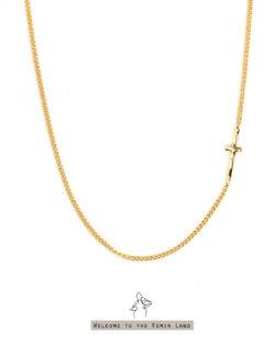信念Belief- 小十字架頸鍊 925純銀抗敏鍍金