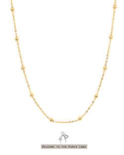 星系團Galaxy clusters- 隔珠頸鍊 925純銀抗敏鍍金