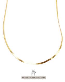 埃及豔后Queen in Egypt- 寬平織頸鍊 925純銀抗敏鍍金