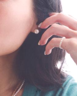 法米手工原創| 自在生活It's Easy- 9.5mm 高光全美正圓珍珠耳環  免費改夾