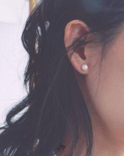 法米手工原創| 纖細姑娘Good Girl- 7.5mm 高光全美正圓珍珠耳環 免費改夾