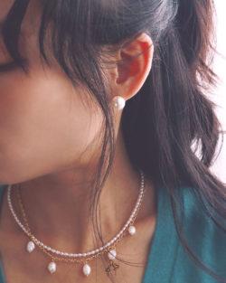 法米手工原創| 財富自由Wealth Freedom- 11.5mm 高光全美正圓珍珠耳環 免費改夾