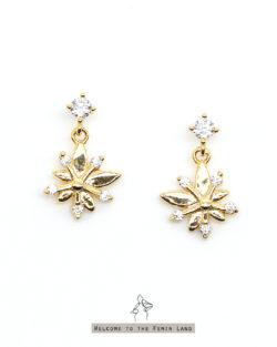 花仙子Flower Fairy- 花朵盛開貼耳耳環 全抗敏925銀 免費改夾