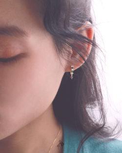 實現Make It Real- 彩色幾何鋯石耳環 全抗敏925銀 免費改夾