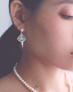 花開的季節Blossom Season- 仿髮晶 垂墜耳環 925抗敏銀針免費改夾 2色可選