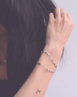 85折雙件組| 醒腦Clear Mind- 白珍珠與紅紋石 薄荷綠色系日本細珠 雙手鍊套組