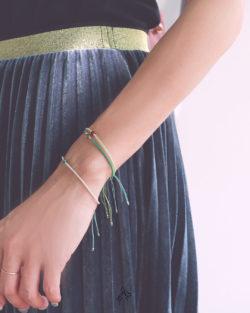 79折3件組|如蔭Green- 黑膽石、酒紅玉髓和綠瑪瑙 綠色系日本細珠 3手鍊套組