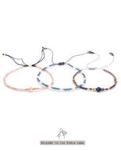 79折3件組|露營In the Camp- 白珍珠、粉珍珠和青晶石 日本細珠 3手鍊套組