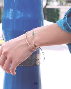 85折雙件組| 幸福的光Light of Happiness- 粉珍珠與天河石 石英粉色系日本細珠 雙手鍊套組