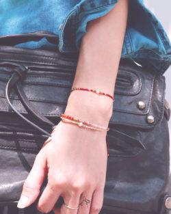 79折3件組|跳動的青春Youth- 紅紋石、粉珍珠與太陽石 紅色系日本細珠 3手鍊套組