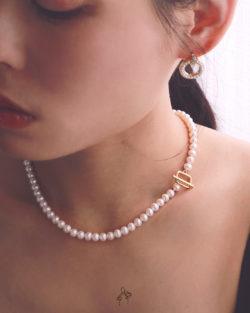 法米手工原創| 傲骨Self Pride- 41cm 高光全美直徑5.5mm圓珍珠項鍊