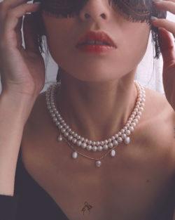 省2100| 赫本Hepburn- 3條可拆戴 大小珍珠項鍊組 925銀抗敏鍍真金