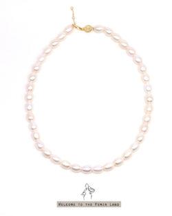 法米手工原創| 高雅女子Noble Lady- 米形珍珠頸鍊